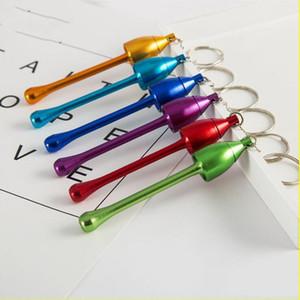 Rauchpfeifen ultimative Rohr Mini-Aluminium-Metall Keychain-Pfeife MiniKeychain Pilz Arten Rauchzubehör Geschenk LXL903-1