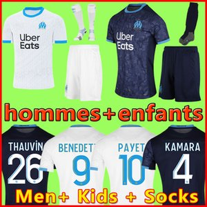Kids Kit 19 20 Olympique de Marseille BENEDETTO كرة القدم جيرزي 2019 2020 OM مرسيليا Maillot De Foot PAYET L.GUSTAVO THAUVIN