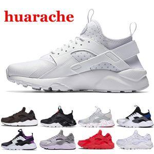 Nike air huarache Женщины воздух Huarache 1 4.0 кроссовки 1S тройной черный белый красный Huaraches ультра BR открытый повседневная кроссовки 36-45