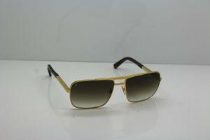 New Attitude Мужские солнцезащитные очки Z0259U 948 Gold / Brown-59/16/140 кадр квадратный металлический каркас стиль винтаж открытый дизайн классической модели