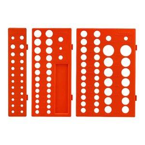 3шт / набор Garage Кронштейн Метрика British System Tools хранения Workshop Экономия места Рукав Разъем Organizer Tray стойку Прочный