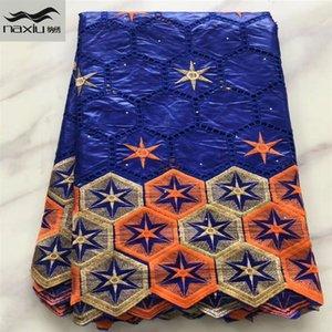 Afrika bazin riche kumaş Afrika dantel kumaş düğün kaliteli elbise bazin brode için nigerian dantel kumaş 5yards