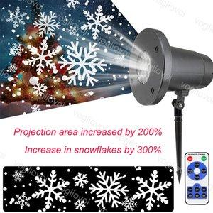 Efectos LED 5W Snowstorm Proyectores de copo de nieve fresco blanco con el controlador para la Navidad Halloween Brightday Party Stage Lighting DHL