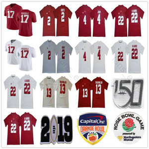 NCAA 150TH Alabama Crimson Tide College Football 13 Tua Tagovailoa 4 Jerry Jeudy 22 Najee Harris Jalen Hurts Ridley 17 Jaylen Waddle Jerseys