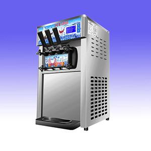 Hot vente bureau mini-lait frappé à la crème glacée molle distributeur automatique 3 Flavors Ice Cream Maker 18L / H avec la livraison gratuite
