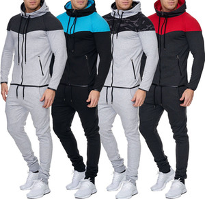 Zogaa Mens Track Suit Set Casual 2 Piece Set Hoodies Sweatshirt and Pants Sweatsuit for Male Clothing Two Piece Men 2018