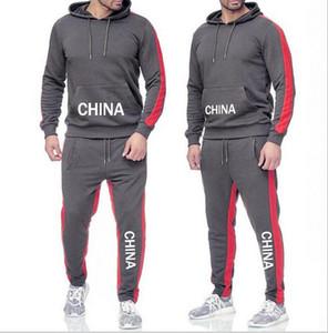 Designerss спортивный костюм для человека лучшая версия весна осень MensTracksuits печати молния костюм топы + брюки Мужские повседневные спортивные костюмы