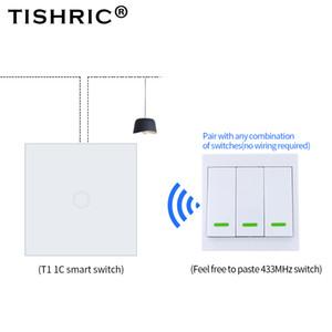 오메 자동화 모듈 TISHRIC RF SONOFF RF / T1 / T2 / BRID 원격 컨트롤러 433MHZ 송신기 벽 패널 스티커 스마트 / Google 홈 작업 ...