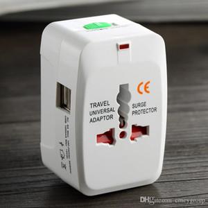 Good quality in One Universal International Plug Adapter 2 USB Port World Travel AC Power Charger Adaptor with AU US UK EU converter Plug