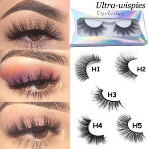 Nouveau Lashes 25MM 3D 100% Mink cheveux Faux cils dramatique long Wispies Fluffy Cils Strips Lashes outil complet de maquillage Extension