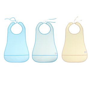 Reusable Elderly Bibs with Catch Pocket Meals Eating Feeding Apron Great for Bedridden, Patients, 3 Colors Optional