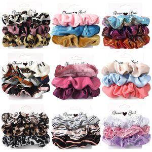 AWAYTR 1 Set Women Scrunchies Elastic Ponytail Holder for Ladies Hairbands Hair Tie Hair Accessories Satin Stretch Bands