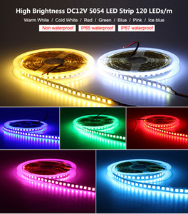 SMD 5054 IP65 IP67 600Leds RGB 12V Waterproof Non-waterproof Led flexible strips light 600 Leds 5M double side high quality