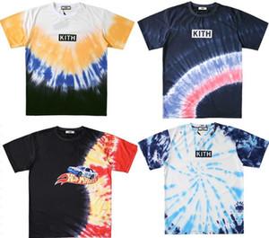 Nuovo KITH TEE tie-dye uomini t-shirt e donne coppie casuale allentata camicia limitata a maniche corte T-shirt esplosione POLO