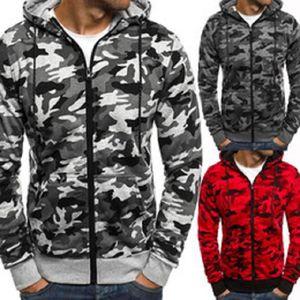Camuflagem Hoodies MenNew Moda camisola Masculino Camo Hoody Hip Outono-Inverno Hoodie Militar Plus Size 3XL