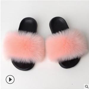 Women Fur Slippers Slides Shoes Furry Fuffly Slipper Flip Flops Sandals Sliders Drag Sandal Summer Shoes