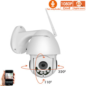 1080P sem fio PTZ Speed ​​Dome IP Câmera WiFi Outdoor Two Way Áudio CCTV Segurança Network Video Surveillance Camera P2P