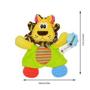 Baby Animal Appease Towel Toothpaste Ring Paper To Appease Doll Plush Toy Children's Early Education Toys