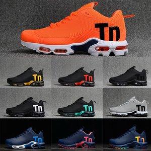2020 nuevos hombres ocasional de las mujeres zapatos de vestir casual de color azul negro gris anaranjado entrenadores deportivos zapatillas de deporte TN mercurial además de diseño correr Calzado para hombre