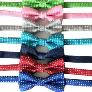 Kid Fliege Pet Punkt gedruckt Bowties Hund Katze Wellen-Punkt-Krawatten Kinder Bow Ties Hochzeit Mode-Accessoires Großhandel DBC DH2516