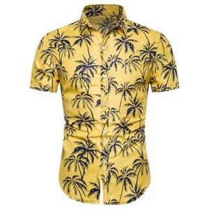 Floral manches courtes Homme hawaïenne Chemise vente Mode chaud Chemise à manches courtes d'été Vocation Chemises pour hommes