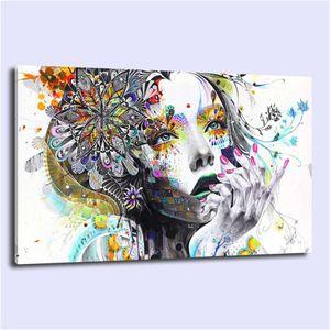 Flower Girl Abstract, HD Impresión de lienzos Nueva decoración casera Arte Pintura / Sin marco / Enmarcado
