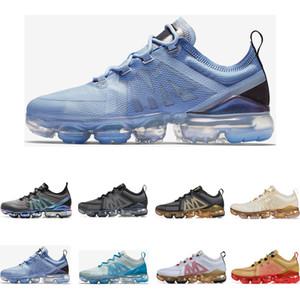 nike air vapormax 2019  Throwback Future Triple Negro blanco negro oro Psychic Pink para mujer para hombre zapatillas deportivas tamaño 36-45