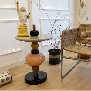 caramelos de colores té calabaza confitada mesa de diseño creativo apilable de la combinación libre apilables consolas de la combinación libre