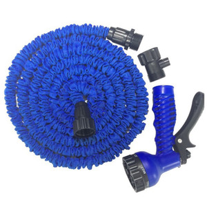 Conector rápido retráctil Manguera de agua con varios tamaños Pistola de agua Casa Jardín Riego Lavado Látex Juego de mangueras expansible DH0755-6 T03