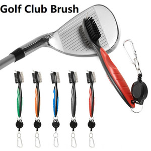 2 unids Golf Club Brush Golf Groove Limpieza Cepillo Golf Putter Groove Tool Tool Accesorios