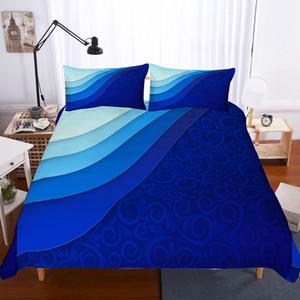 Yi chu xin 3d геометрические постельные принадлежности размер королева современная мода пододеяльник наволочка комплект утешитель bedline кровать