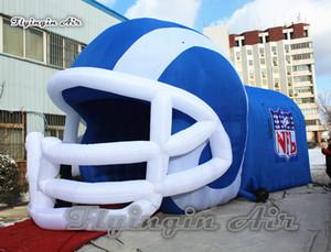 Personalizado entrada do clube Jogador capacete inflável Tunnel 5m Altura Blow Up Publicidade Rugby Football Helmet Túnel Com Logo Para Sports