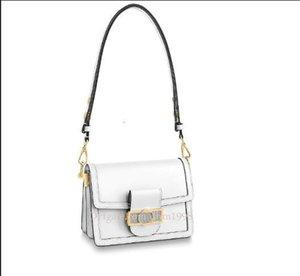 Dhm1998 Herbst und Winter neue Damen M55837 MINI Handtasche freies Leder Verarbeitung weiße Umhängetasche Kette Tasche Umhängetasche