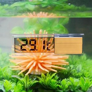 3D Digital Display Fish Tank Thermometer Electronic Water Thermometer LED Crystal Induction Type Aquarium Thermometer 2 2