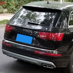 De escape de automóviles que labra los accesorios 2 piezas de acero inoxidable Silenciador trasero cola del extremo de tubería cubierta ajuste de la decoración para Audi Q7 2016 2017 2018