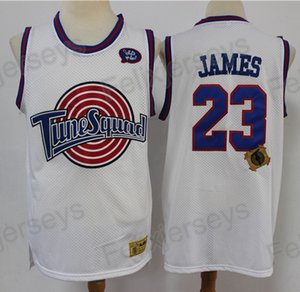 "2020 Tune Squad Looney Monstars Space Jam LeBron James DNA Jersey Bianco Blu TNM James ""Space Jam"" # 23 Tune Squad cucita maglie da uomo"