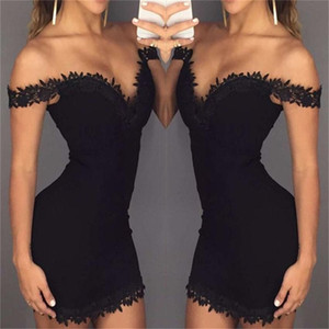 Donne sexy calda design Abiti Moda scollo a V vestito solido delle donne di colore Estate Gonne formato S-XL PH-YF20425