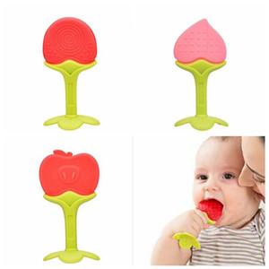 الرضع سيليكون الفاكهة التسنين مضغ الرضع الأسنان اللعب تدريب الأسنان للأطفال اللعب الطفل عضاضة شحن مجاني