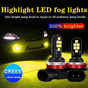 1 Adet H1 H3 LED Ampul H4 H7 H11 H8 Süper Parlak 3030SMD Araç Sis Lambaları 9005 HB3 9006 HB4 H27 881 Beyaz Sürücü Gündüz Lambası Auto Running