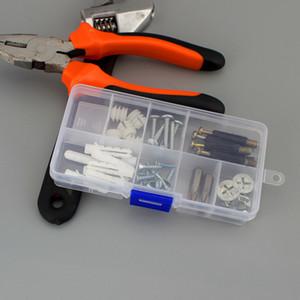 10 Rejilla Mini caja de plástico de componentes electrónicos Tornillo organizador del envase portátil joyería anillo de perlas de almacenamiento apilable Caja