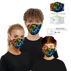 مع Pm2. 5 filter Reusable Starry Digital Print Cotton Washable Breatable Dust Convers Anti Smog Pm2. 5