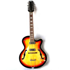 Brand New 12string guitarra elétrica com semi-oco