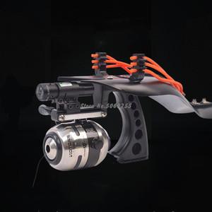 High Quality Laser Slingshot Black Hunting slingshot Fishing Catapult Fishing Bow Outdoor Powerful Slingshot Catapult Catch Fish