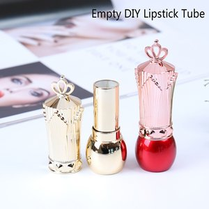 Hot 1Pcs DIY Crown Cap Empty Lipstick Tubes Tools Makeup Container Bottle Cosmetic Tools