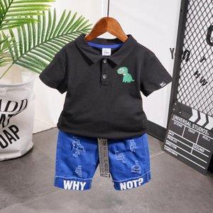 2020 Summer Baby Boy Children Denim Shorts Suit T-shirt Shorts Boys clothes Kids Blue sets Clothes 2-7