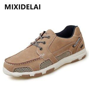 MIXIDELAI Мужчины Mesh Повседневная обувь лето взрослые дышащий Light Качество Открытая болотная Walking Мужская обувь Мода кроссовки обувь