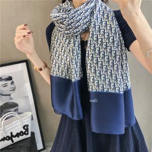 Modemarke Schal Qualitätsseide Frauen tragen Schale Topdesigner Blumen des Sommer Stil langen Schal Label Schal verbrachten