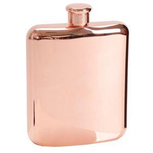 Rose Gold 6 Oz Stainless Steel Vodka Hip Flask Flask for Alcohol Bottle Liquor Whiskey Bottle Groomsmen Gifts with Funnel