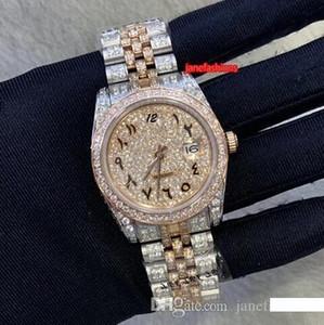 Arabo Digital Laureato Diamante Orologi Bi-Rose Gold Diamond uomini caldi orologio da polso del calendario vigilanza meccanica automatica