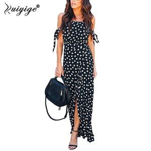 Ruiyige Vintage Polka Dot Kleid Frauen Party Kleider Frauen Maxi Langes Kleid Elegante Dame Sommerkleid 2019 Weibliche Vestidos Y190514